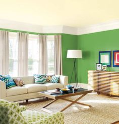 Living room colors - Choosing the living room paint colors and deciding on a living room color scheme can be a challenge. Thank you with this living room Living Room Color Schemes, Perfect Living Room, Best Interior Paint, Dorm Wall Decor, Living Room Green, Colourful Living Room, Living Room Designs, Living Room Paint, Elegant Living Room