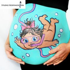 Adorable Pregnant Belly Painting Ideas - Baby G - Pregnancy Art, Pregnancy Photos, Pregnancy Belly, Baby Boy Photos, Baby Pictures, Funny Pictures, Trendy Baby, Bump Painting, Painting Art