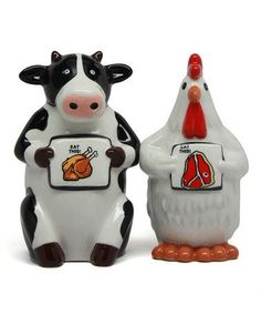 Another great find on #zulily! Cow & Chicken Salt & Pepper Shakers #zulilyfinds