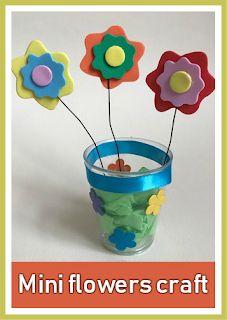 Mini Spring flowers craft