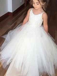 93c3b607b Aprildress White Ivory Long Flower Girl Dresses First Communion Dress Ball  Gown ALD025 Childrens Wedding Dresses