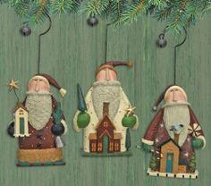Santa Ornament 3 Styles Santa's House Williraye Studio Figurine WW2906 | eBay