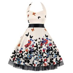 Vestidos Retro, Dress Vestidos, Skull Dress, Ball Gown Dresses, Rockabilly, Party Dresses For Women, Cotton Style, Swing Dress, Retro Dress