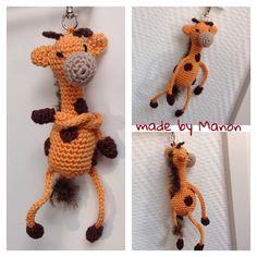 Gehaakte sleutelhanger giraffe