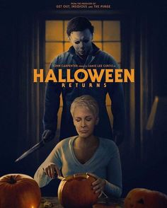 Michael Myers is back ? Halloween 2018, Halloween Movies Scary, Halloween Horror, Scary Movies, Happy Halloween, Halloween Art, Jamie Lee Curtis, Michael Myers, Horror Icons
