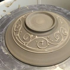 It's just that kind of night. Sometimes I feel like I going in circles... or #spirals. #flow. Just keep flowing I say. #handmadepottery