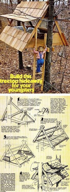 Build Treehouse - Children's Outdoor Plans and Projects | WoodArchivist.com