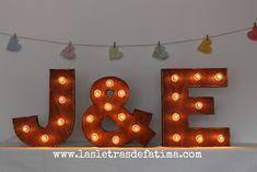 16 inches Light letter. Iluminated Letter. Wood Letter Great for any event :) de Letrasdecorativas en Etsy