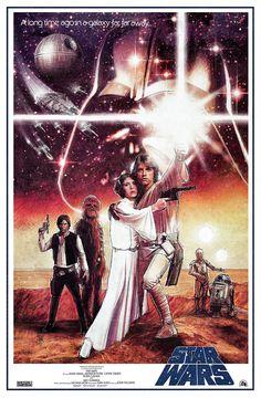 Geniales posters de películas ilustrados por Paul Shipper. La Guerra de Las Galaxias