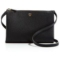 Mcm Double Zip Crossbody (28,320 PHP) ❤ liked on Polyvore featuring bags, handbags, shoulder bags, mcm purse, mcm handbags, leather cross body handbags, leather crossbody handbags and leather purses