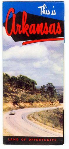 1950s Vintage #Arkansas Travel Brochure