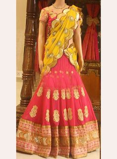 £66.34 from SareeO. Would used PINK skirt & possibly yellow dupatta.  Code: 2200-NX-24