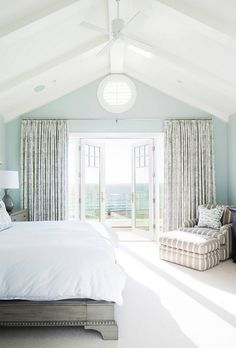What a dreamy bedroom! The beach is just steps away…