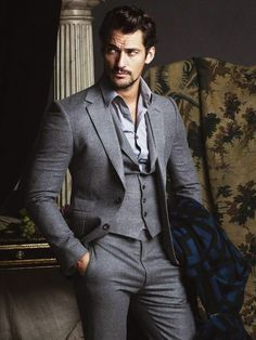 David Gandy covers FHM Collections China 2014 F/W Issue ~ David James Gandy