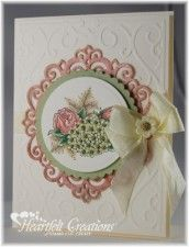 Floral With Cream #DIY #PaperCraft #Cards #ATC #Tags #Scrap