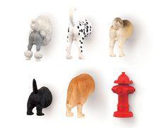 Kikkerland Design Inc » Products » Dog Butt Magnets 6 Per Set