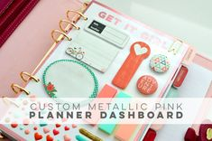 Custom Metallic Foil Planner Dashboard | Jenallyson - The Project Girl - Fun Easy Craft Projects including Home Improvement and Decorating - For Women and Moms