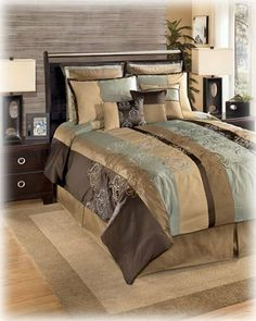 Beau Series Name: Grenada   Shore Item Name: Queen TOB Set Model @ Ashley  Furniture♥ I Loooove This Bedding!