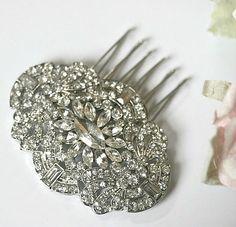 Art Deco Bridal hair comb  Rhinestone hair by LavenderBlueBridal, £45.00