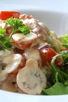 Pasta med krämig baconsås   Jennys Matblogg