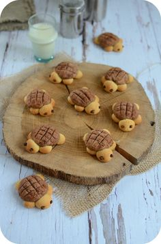 Biscuits tortue - Sophia We Easy Cheesecake Recipes, Cheesecake Bites, Pumpkin Cheesecake, Köstliche Desserts, Dessert Recipes, Baking Recipes, Cookie Recipes, Turtle Cookies, Baby Cooking