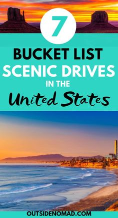 These scenic drives in the US highlight just why this country is so great.  Be sure to include these iconic stretches of highway on your next road trip.  From the Overseas Highway in Florida to the Olympic Peninsula in Washington don't miss these awesome destinations. #roadtrip #USA #vacation #holiday