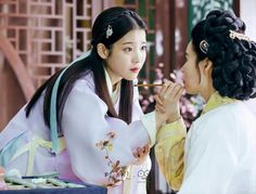 Moon Lovers: Scarlet Heart Ryeo (Hangul: 달의 연인 - 보보경심 려; RR: Dar-ui yeon-in - Bobogyeongsim ryeo) is a South Korean drama based on the Chinese novel Bu Bu Jing Xin by Tong Hua. It began airing on August 29, 2016 on SBS for 20 episodes. During a total eclipse of the sun, a 21st century woman, Ko Ha-jin (IU) is transported back in time to Goryeo Dynasty Korea. 이지은