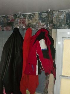Add a coat rack to a pop up trailer.