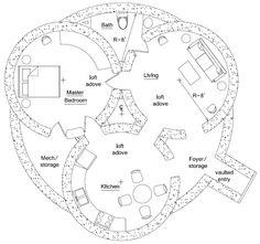 DIY and crafts <b>Survival shelter.</b> Triple Dome Survival Shelter Cob House Plans, House Floor Plans, Hobbit Hole, The Hobbit, Eco Construction, Earth Bag Homes, Dome House, Survival Shelter, Natural Building