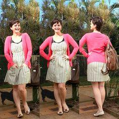 LEILA DINIZ *blog: SOLZINHO OUTONAL = vestido estampa batom + cardiga...