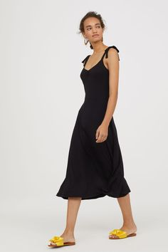 Sleeveless jersey dress - Black - Ladies | H&M 2