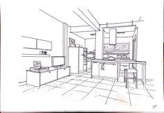 copy interior sketch Interior Sketch, Architecture, Bedrooms, Bedroom Decor, Floor Plans, Draw, Illustration, Architecture Sketches, Perspective