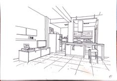 copy interior sketch