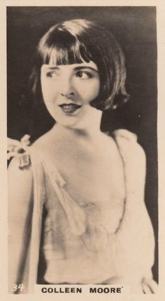 Colleen Moore 1920s She was interviewed in a great BBC or ITV documentary on silent movies narrated by James Mason from the 80s.