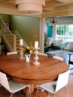 like the modern chairs with the traditional table