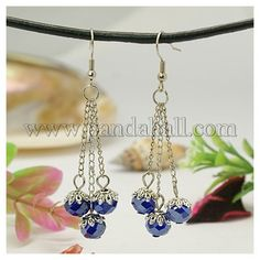 Stylish Tibetan Style Chandelier EarringsEJEW-JE00511-05-1