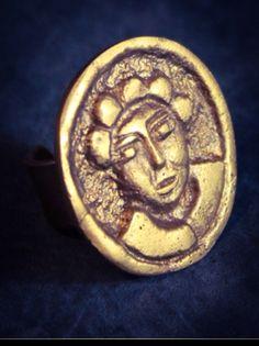 Handarbeit Ring aus Messing von  Www.noor-design.me