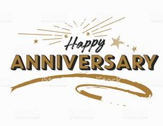 Happy Anniversary Cards, Gold Ribbons, Brush Lettering, Label Design, Business Design, How To Draw Hands, Banner, Words, Poster