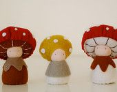 Impresionantes juguetitos artesanos: SHROOMPERS