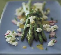 Asparagus & Goat Cheese salad