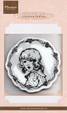 cling stamps CS0848 flower girl - Clear Stamps Cling - Stempel Techniek Hobbyshop Nellie Snellen