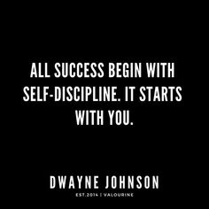 'All success begin with Self-Discipline. It starts with you. Short Inspirational Quotes, Motivational Quotes For Life, Good Life Quotes, Inspiring Quotes About Life, Positive Quotes, Quotes Motivation, Motivational Board, Quote Life, Christine Caine