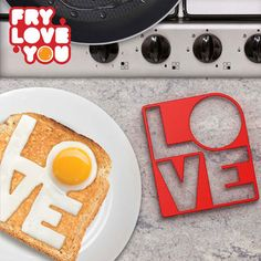 Surprise someone special with a breakfast to remember using this 'love' fried egg mold! It's perfect to use when making some tasty eggs on toast! Made from heat-resistant silicone and also great to use for pancakes too. Silicone Egg Mold, Egg Rings, Egg Molds, Egg Toast, Cool Kitchen Gadgets, Fun Gadgets, Cool Inventions, The Breakfast Club, Cool Bars