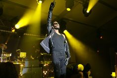 Usher rocks during Super Bowl weekend