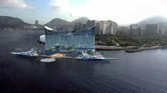 A luxurious floating hotel with restaurants, a spa, nightclub and rooftop pool, could be built to accommodate visitors to the next World Cup.