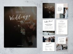 Pricing template. Wedding photography price list. Marketing & advertising template pricing guide. Fully editable Photoshop PSD files