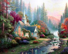 Favorite artist: Thomas Kinkade