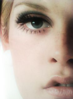 the Twiggy eye.  I like how the dark is above the crease, rather than in it- different, would extend the lash line, yes?