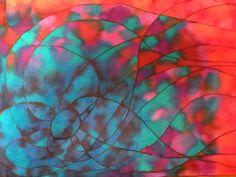 Seda pintada a mano, serie Utopía, por Patricia Bueso