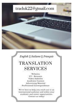 traduk22@gmail.com || translation || italian || english || french